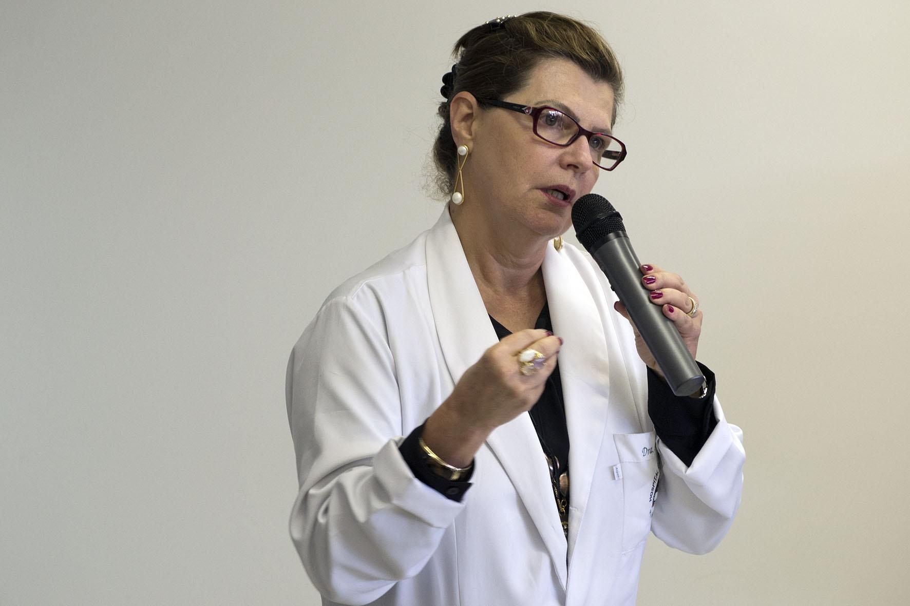 Rosa Inês Costa Pereira, diretora associada da FCM. Foto: Marcelo Oliveira. CADCC-FCM/Unicamp