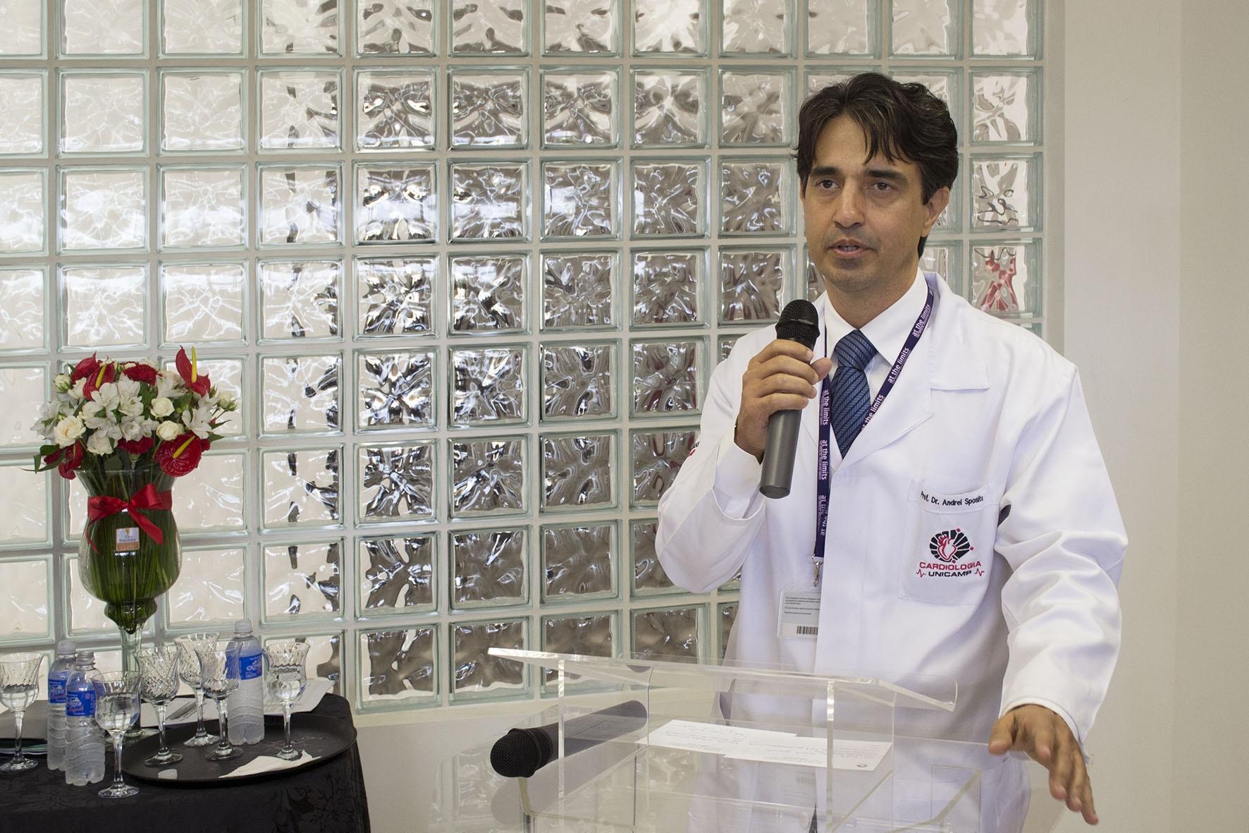 Andrei Sposito, atual coordenador do CPC. Foto: Marcelo Oliveira. CADCC-FCM/Unicamp