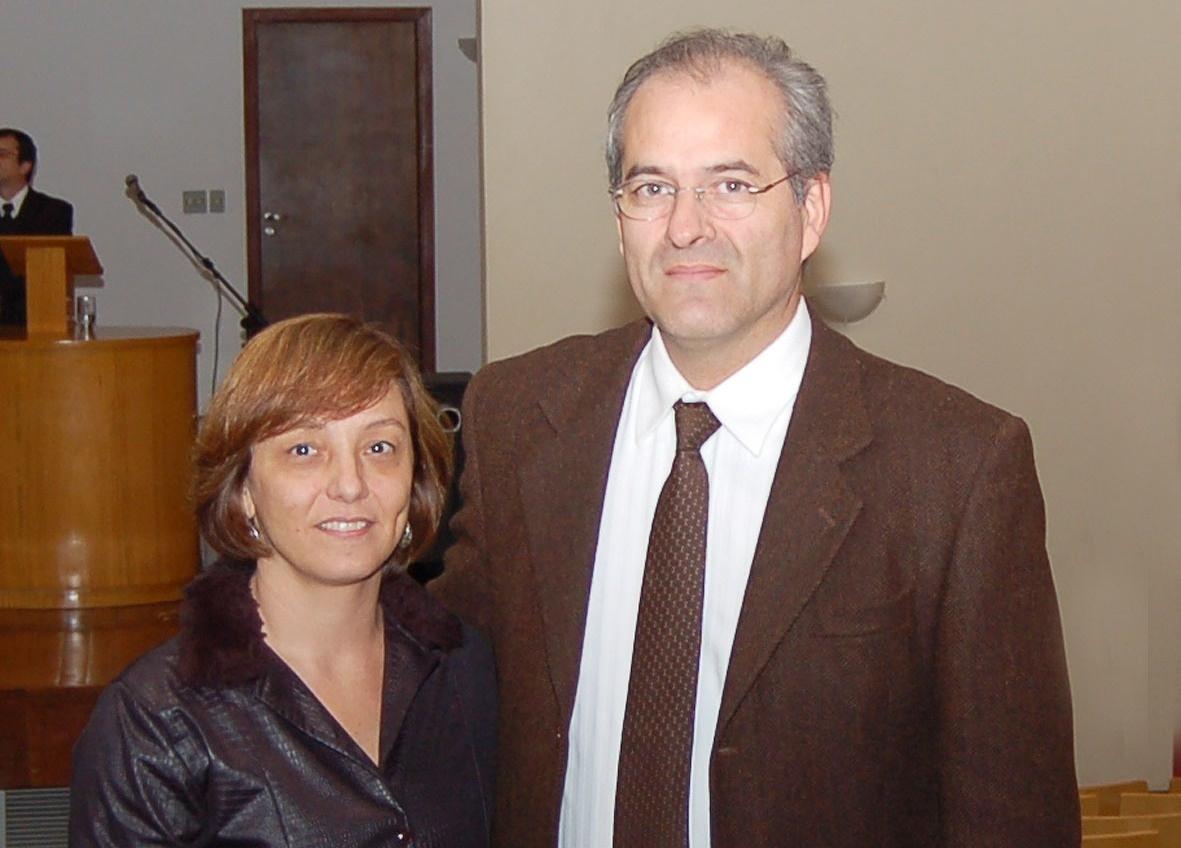 Eliana Amaral e Francisco Tobar, filho de Miguel Tobar Acosta